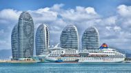 Hainan China Skyline Ocean Liner Ship